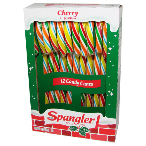 Spangler Candy Canes CHERRY Multi-Colored, 12 St., 170 g