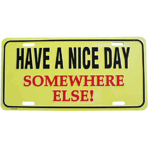 Booster Plate - HAVE A NICE DAY, ca. 30 x 15 cm