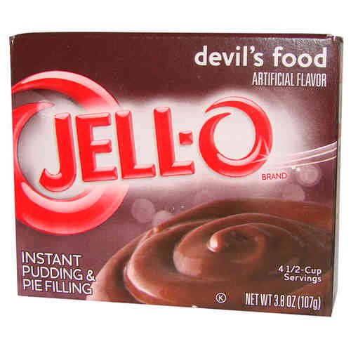 JELL-O Instant Pudding & Pie Filling DEVIL'S FOOD, 107 g