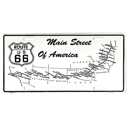 Booster Plate - Route 66 - Main Street of America, ca. 30 x 15 cm
