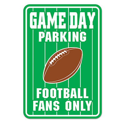 Schild - Game Day PARKING - Football Fans Only