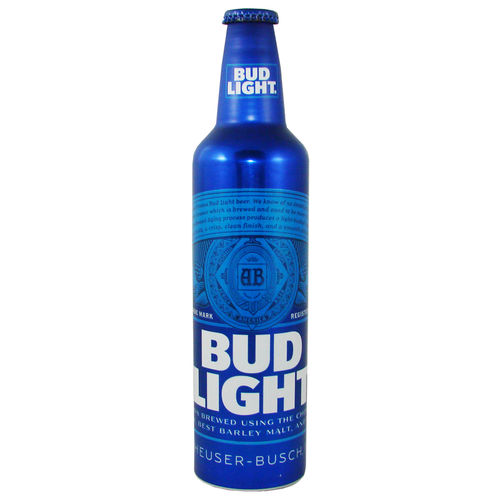 BUD LIGHT Lager Beer, 473 ml-Alu-Flasche, 16 fl. oz.