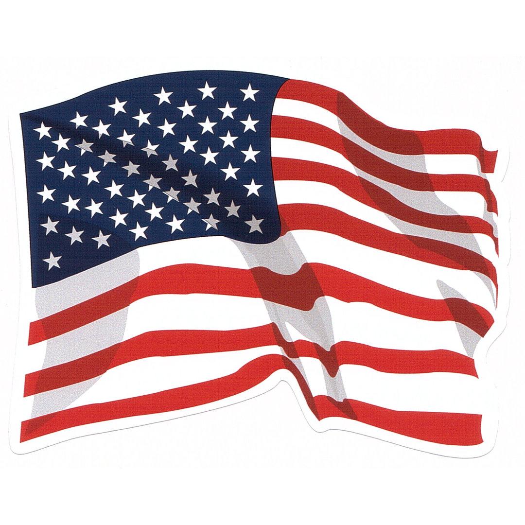 Aufkleber  USFlagge wehend PVC ca 117 x 94 cm  USShop