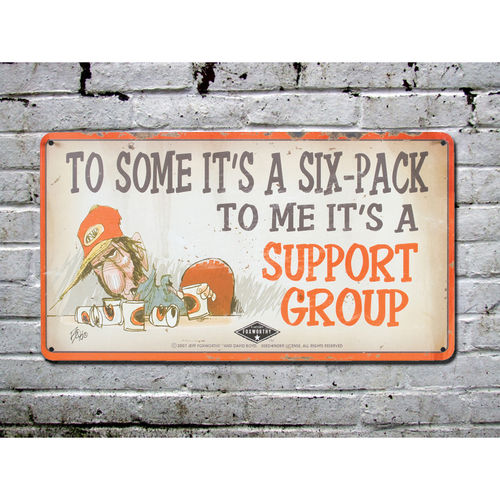 Blechschild - Support Group, ca. 24,5 x 13,5 cm