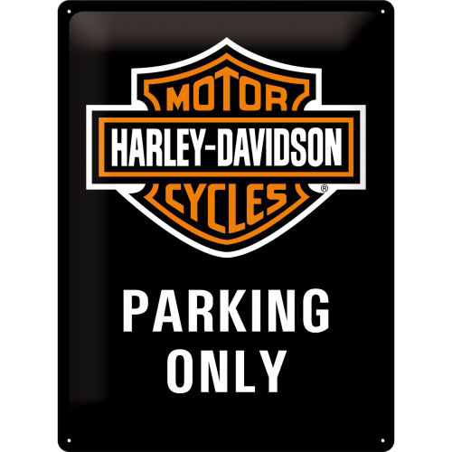 Blechschild - Harley-Davidson® Parking Only, ca. 15 x 20 cm