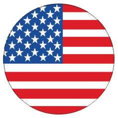 Aufkleber Us Flagge Rund Pvc Ca 44 Cm ø