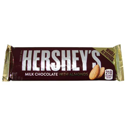Hershey's - Milk Chocolate with Almonds Bar, 41 g