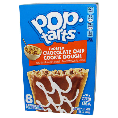 Kellogg's® Pop-Tarts® FROSTED Chocolate Chip Cookie Dough, 384 g