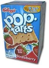 Kellogg's® Pop-Tarts® UNFROSTED Strawberry, 8 Stück, 416 g
