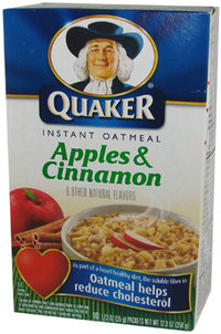 Quaker Instant Oatmeal - Apples & Cinnamon, 350 g