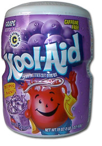 Kool-Aid GRAPE Drink Mix, 538 g-Barrel, 19 oz.