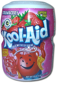 Kool-Aid STRAWBERRY Drink Mix, 538 g-Barrel