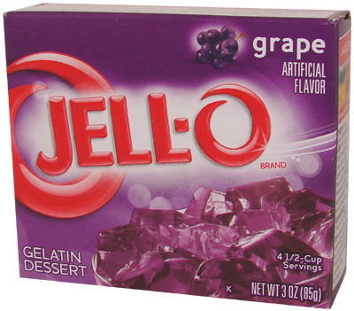 JELL-O® Gelatin Dessert GRAPE, 85 g, 3,0 oz.