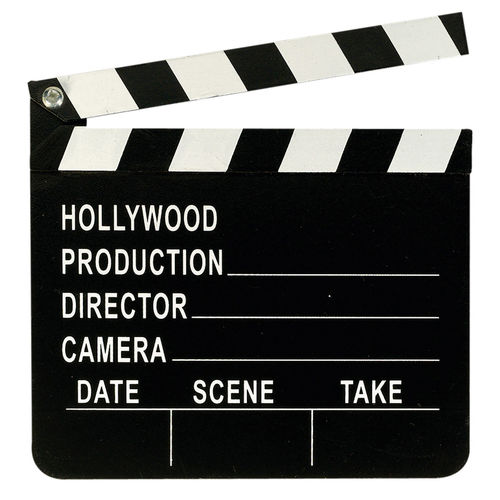 Filmklappe - Movie Director's Clapboard, ca. 20 x 18 cm