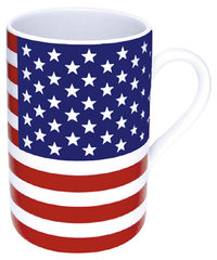 Kaffeebecher - USA Stars & Stripes, Porzellan