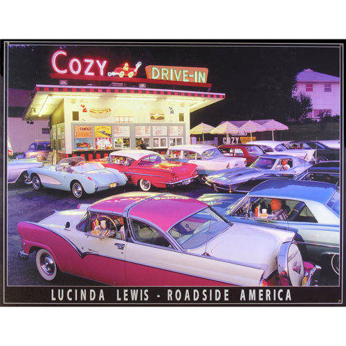 Blechschild - Cozy Drive-In, ca. 40,5 x 31,5 cm