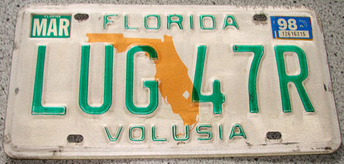 Original US-License Plate Florida, gebraucht