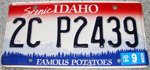 Original US-License Plate Idaho, gebraucht