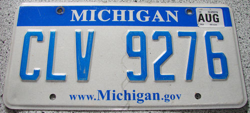 Original US-License Plate Michigan, gebraucht