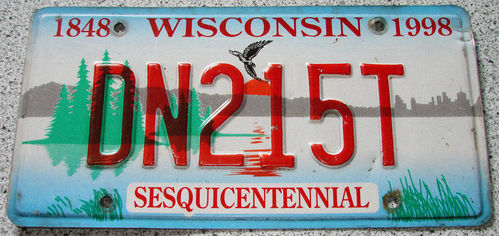 Original US-License Plate Wisconsin, gebraucht