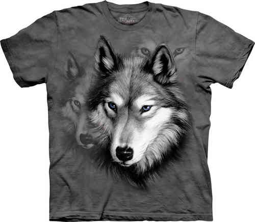 THE MOUNTAIN Adult T-Shirt - Wolf Portrait
