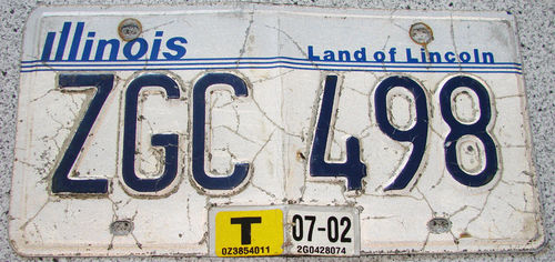 Original US-License Plate Illinois, gebraucht