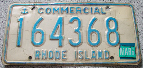 Original US-License Plate Rhode Island, gebraucht
