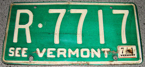 Original US-License Plate Vermont, gebraucht