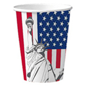 Pappbecher USA - Statue of Liberty, 10 Stück