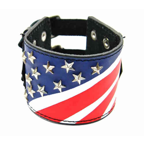 Lederarmband - USA Stars & Stripes