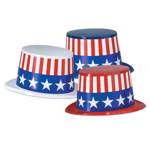Party-Hut USA - Stars & Stripes, ca. 13 cm hoch