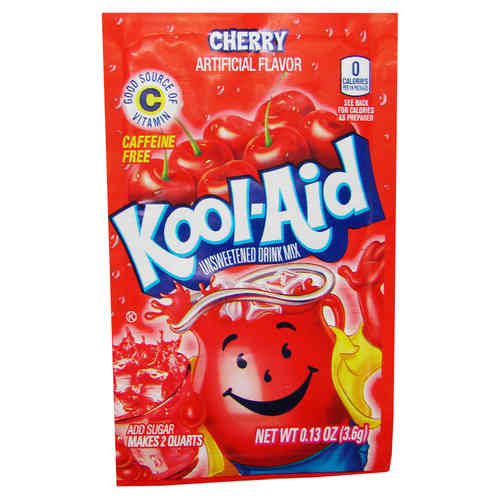 Kool-Aid CHERRY, Unsweetened Soft Drink Mix, 3,6 g