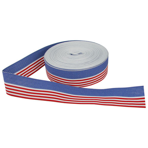 Deko-Stoffband USA - Stars & Stripes, 38 mm breit