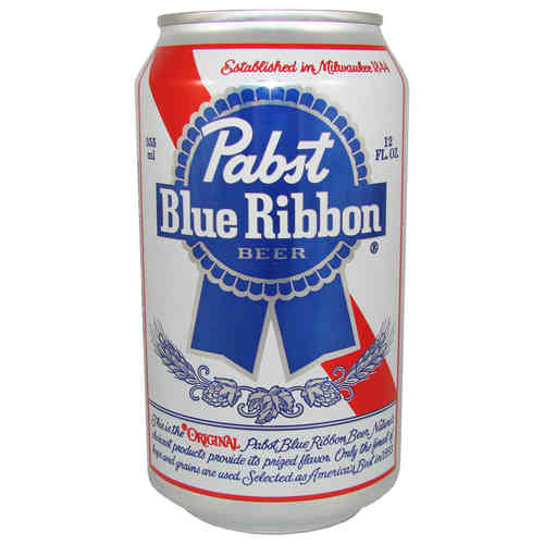Pabst - Blue Ribbon Beer, 355 ml-Dose, 12 fl oz.