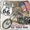 Metall-Untersetzer - Route 66® Desert Old Trails Road, 9 x 9 cm