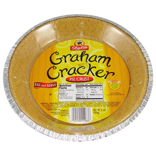 ShopRite - Graham Cracker Pie Crust, 170 g, 6 oz.