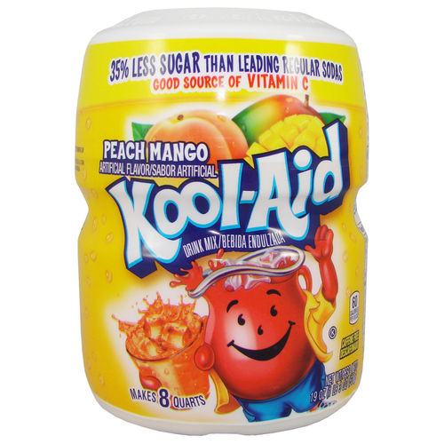 Kool-Aid PEACH MANGO Drink Mix, 538 g-Barrel