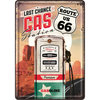 Blechpostkarte - Route 66® Gas Station, ca. 10 x 14,5 cm