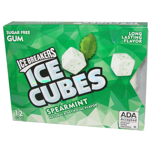 ICE BREAKERS Ice Cubes Spearmint Gum, 12 Cubes, 27,6 g