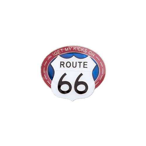 Pin - I get my Kicks on Route 66®, ca. 2,6 x 2,3 cm