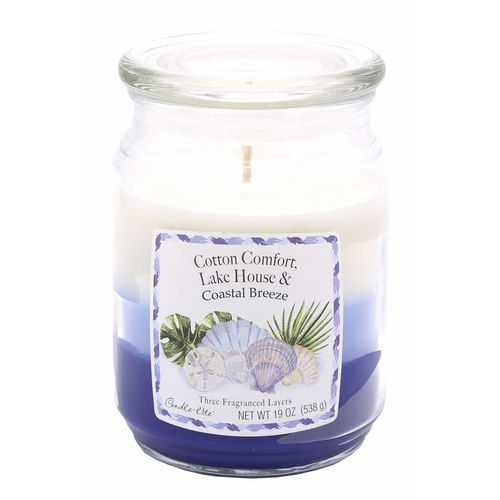 CANDLE-LITE™ Duftkerze Cotton Lake House Breeze, 538 g