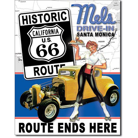 Blechschild - Mel's Drive-In Route 66®, ca. 31,5 x 40,5 cm