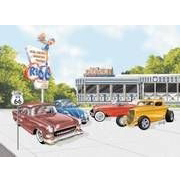 Blechschild - Route 66® Hot Rod Diner, ca. 40,5 x 31,5 cm