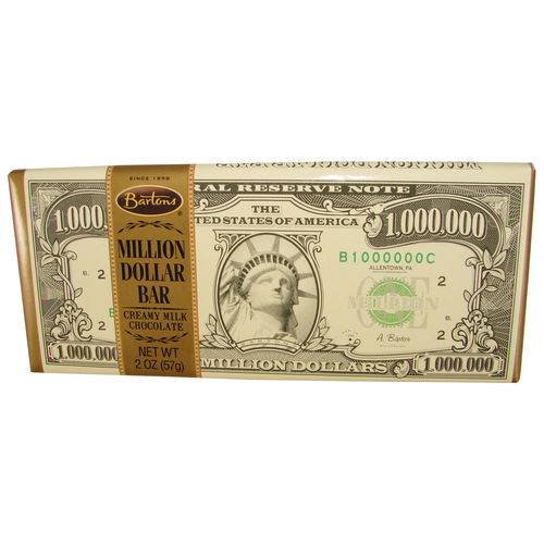 Bartons® Million Dollar Creamy Milk Chocolate Bar, 57 g