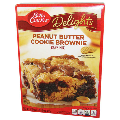 Betty Crocker™ Peanut Butter Cookie Brownie Bars Mix, 487 g