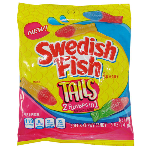 Swedish Fish® TAILS Soft & Chewy Candy Bag, 141 g, 5 oz.